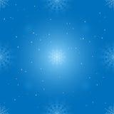 Petits et grands flocons de neige sans couture sur le fond de gradient Photos libres de droits
