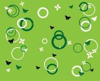 Petits fleurs et cercles   Image stock