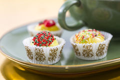 Sweets at tea party Royalty Free Stock Photo