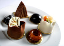 Petits fours shallow dof Royalty Free Stock Photography