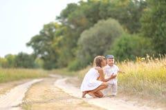 Petits frère et soeur Photographie stock libre de droits