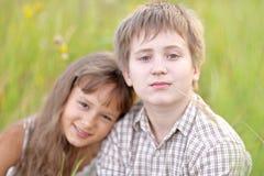 Petits frère et soeur Image stock