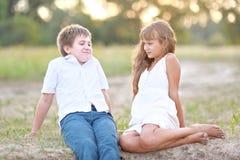 Petits frère et soeur Photos stock