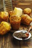 Petits gâteaux avec du fromage et le cumin Images stock