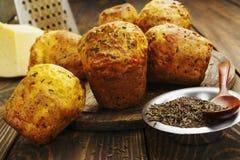 Petits gâteaux avec du fromage et le cumin Image stock