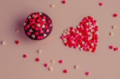 Petits gâteaux avec le coeur Photographie stock