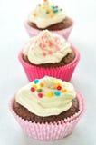 Petits gâteaux colorés de chocolat Images stock