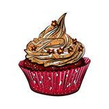 Petits gâteaux colorés savoureux d'isolement sur le fond blanc Photos libres de droits
