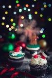 Petits gâteaux décoratifs de Noël Photos libres de droits