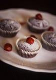 Petits gâteaux délicieux de chocolat image stock