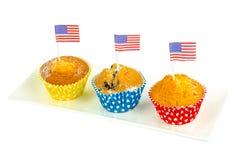Petits gâteaux délicieux faits maison pour le Jour de la Déclaration d'Indépendance Photos stock