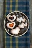 Petits gâteaux d'amour Images stock