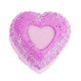 Petits gâteaux d'amour avec des coeurs Photo stock