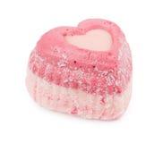 Petits gâteaux d'amour avec des coeurs Image libre de droits