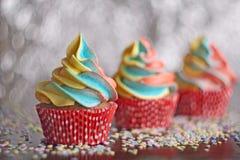 Petits gâteaux d'arc-en-ciel Foyer sélectif Photographie stock libre de droits