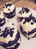 Petits gâteaux d'Oreo Photographie stock