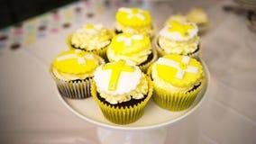 Petits gâteaux de baptême de bébé Images stock