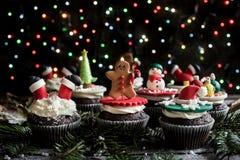 Petits gâteaux de bonbon à Noël Photographie stock