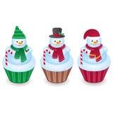 Petits gâteaux de bonhomme de neige Photos libres de droits