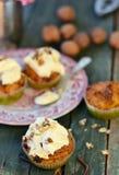 Petits gâteaux de carotte Photo stock