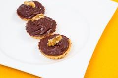 Petits gâteaux de chocolat Photos libres de droits