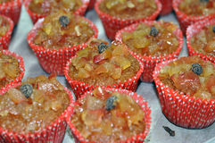 Petits gâteaux de granola d'Apple Image stock