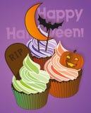 Petits gâteaux de Halloween Images stock