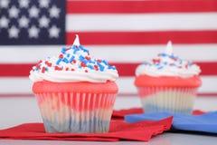 Petits gâteaux de Jour de la Déclaration d'Indépendance Photos stock