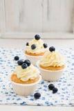 Petits gâteaux de myrtille image stock