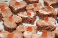 Petits gâteaux de Noël Photos libres de droits