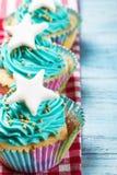 Petits gâteaux de Noël avec une étoile Photo libre de droits