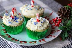 Petits gâteaux de Noël blanc Photographie stock
