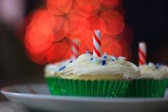 Petits gâteaux de Noël blanc Photos stock