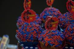 Petits gâteaux de Spiderman Images libres de droits