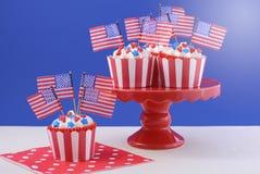 Petits gâteaux de thème des Etats-Unis Photographie stock
