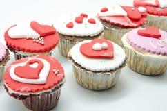 Petits gâteaux de Valentine Photographie stock