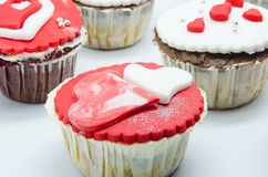 Petits gâteaux de Valentine Images libres de droits