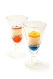 Petits gâteaux en verre clair Photographie stock libre de droits