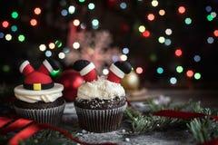 Petits gâteaux faits maison de bonbon à Noël Image stock