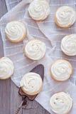 Petits gâteaux faits maison de vanille Photo stock