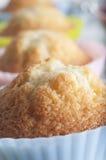 Petits gâteaux fraîchement cuits au four macro Image stock