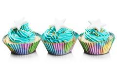 Petits gâteaux frais colorés de Noël Image stock