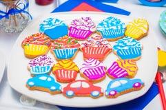 Petits gâteaux, gâteaux et biscuits de vacances Photo libre de droits