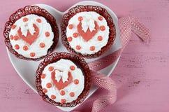 Petits gâteaux heureux de jour de valentines Photo libre de droits