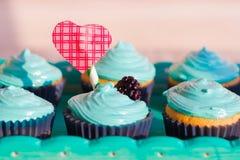 Petits gâteaux pour le jour du ` s de Valentine Image libre de droits