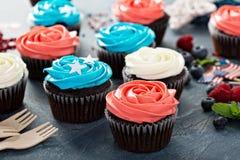 Petits gâteaux pour le quatrième de juillet Photos stock