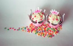 Petits gâteaux pour une princesse Photo stock