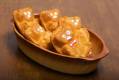 Petits gâteaux sous forme d'ours de nounours Photo stock