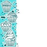 Petits gâteaux sur le bleu illustration libre de droits