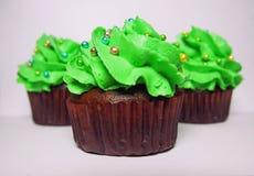 Petits gâteaux, vert Photo stock